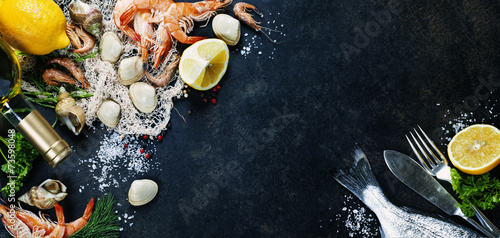 Foto op Canvas Vis Fresh seafood