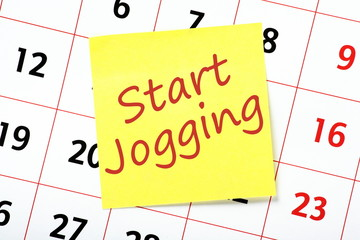 Resolution to Start Jogging on a wall calendar