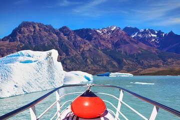 White-blue huge iceberg