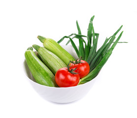 Composition of fresh vegetables.