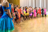 Fototapety ballroom dancers standing in a row