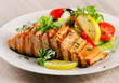 Grilled Salmon with  salad . - 73599247