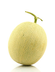 Japan melon on white background