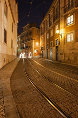 Street at Night in the City of Lisbon