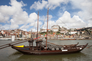 River View of the Old City of Porto in Portugal