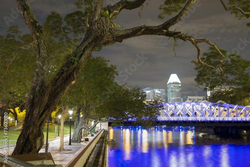 Fotobehang Singapore night in Singapore