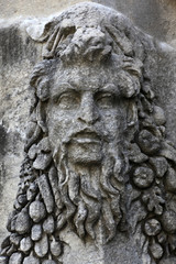 Dionysus on the sarcophagus wall