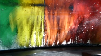 Driver seat point of view in car wash footage part 3 of 3