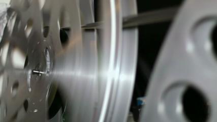 35mm Film Cinema Reels Rewinding