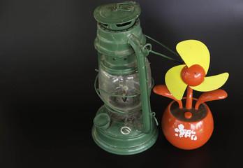 Hurricane lamp And Fan