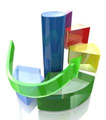 Diagram levels, action steps concept
