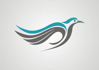 Bird illustration logo abstract  vector