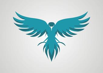 Bird wings abstract vector logo