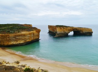 The collapsed London bridge  of Port Campbell National Park