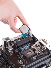 Electronic board and microchip