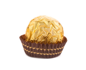 Tasty chocolate bonbon