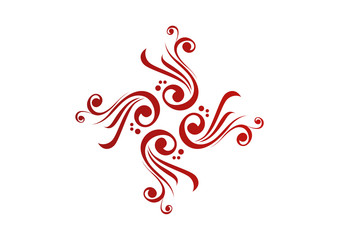Red ornamental element design