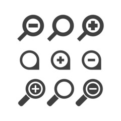 Vector magnifier glass and zoom Icons search lupe
