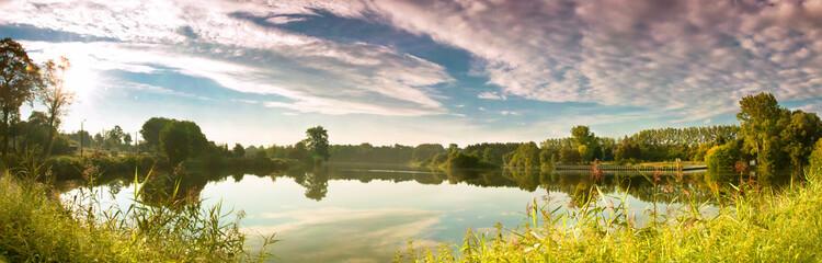 landscape, lake