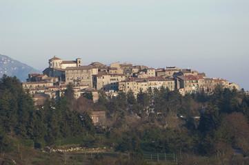 View over Capranica, Lazio region, Italy