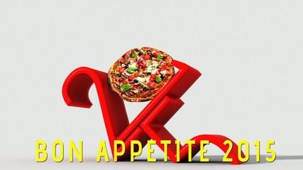 Anno nuovo 2015 con pizza e buon appetito