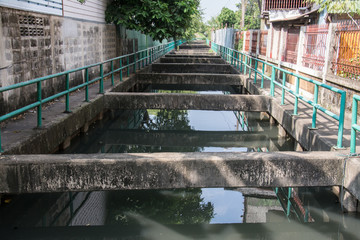 small canal in  Bangkok ,Thailand