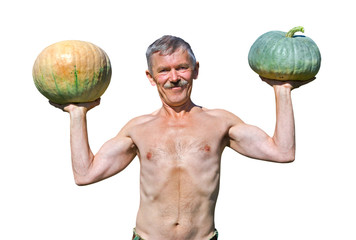 Man with pumpkins 21
