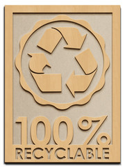100% Recyclable - Rahmen Holz