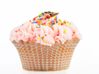 Beautiful cupcake on a white background, isolated