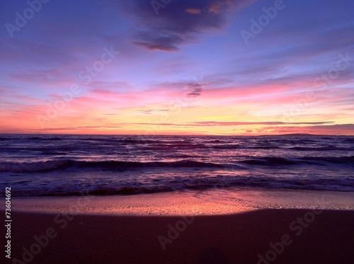 canvas print picture Sonnenuntergang Mallorca