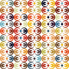 Abstract circle vector textured  pattern