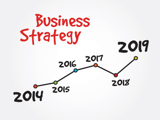 Handwriting timeline of Business Strategy vector concept