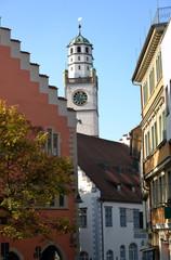 Blick auf den Blaserturm Ravensburg