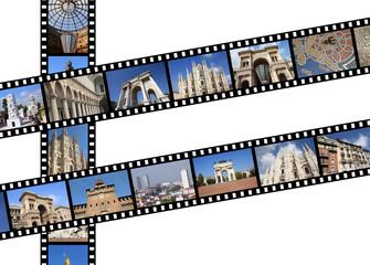 Milan, Italy - travel film strips