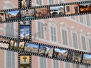 Rome city - travel film strips