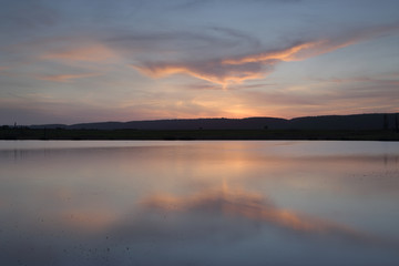 Sunset views across Duralia Lake, Penrith