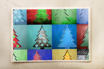 cartolina di Natale vintage collage