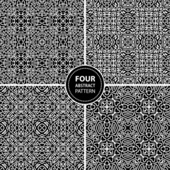 Set of four abstract seamless patterns