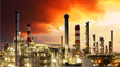 canvas print picture - Oil Industry - Gas Refinery