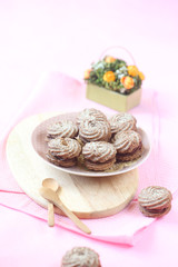 Viennese Sable Cookies with Chocolate Filling