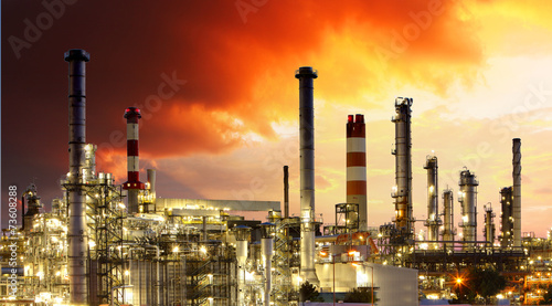 canvas print picture Oil Industry - Gas Refinery