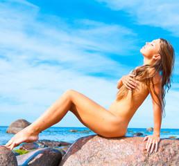 Stone Nude Sitting