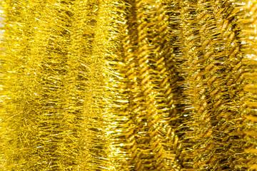 Golden Christmas tinsel