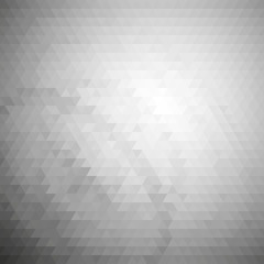 Gray geometric background, abstract triangle pattern vector