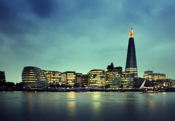 London city at sunset , UK