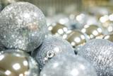 Christmas balls close up