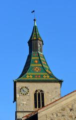 Glockenturm der Sankt Jodok Kirche Ravensburg