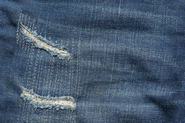 denim jeans blue old torn with fashion design