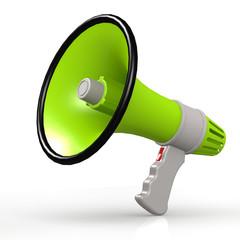 Isolated green megaphone