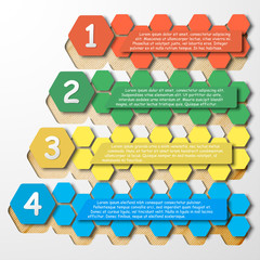 Step Infographics, color template vector for business design